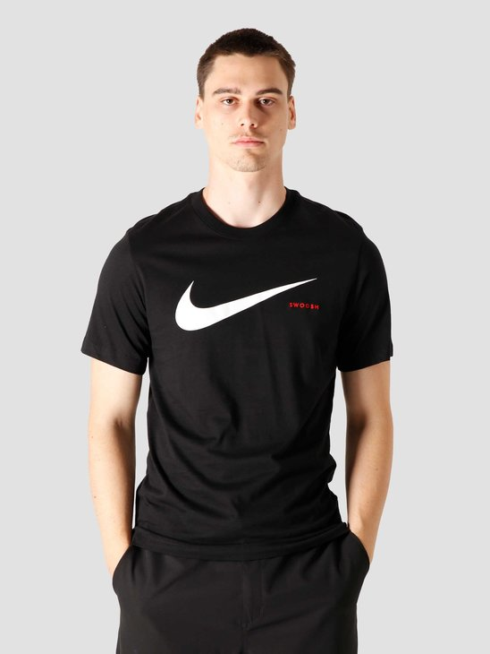 Nike NSW Swoosh Hbr Ss T-shirt Black White CK2252-010