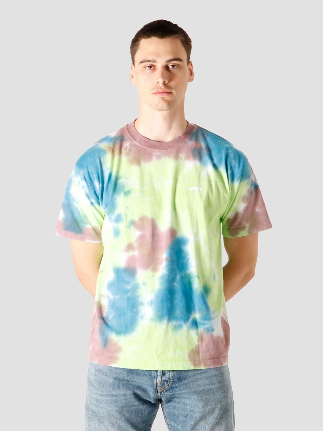 Obey Obey Bold T-Shirt Lime Punch 163252349LIP