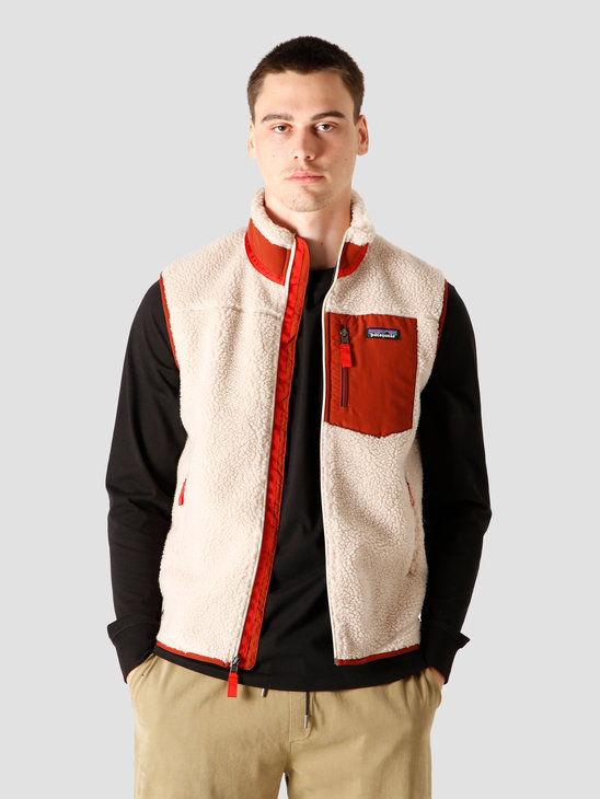 Patagonia M's Classic Retro-X Vest Natural Barn Red 23048