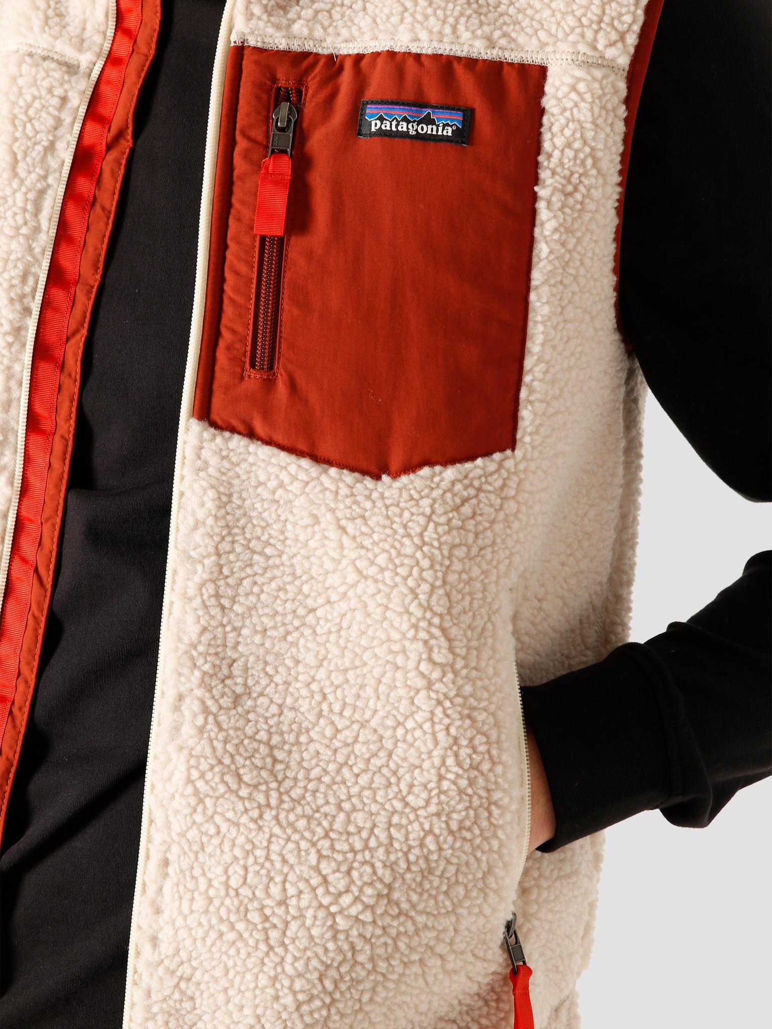 Patagonia Patagonia M's Classic Retro-X Vest Natural Barn Red 23048