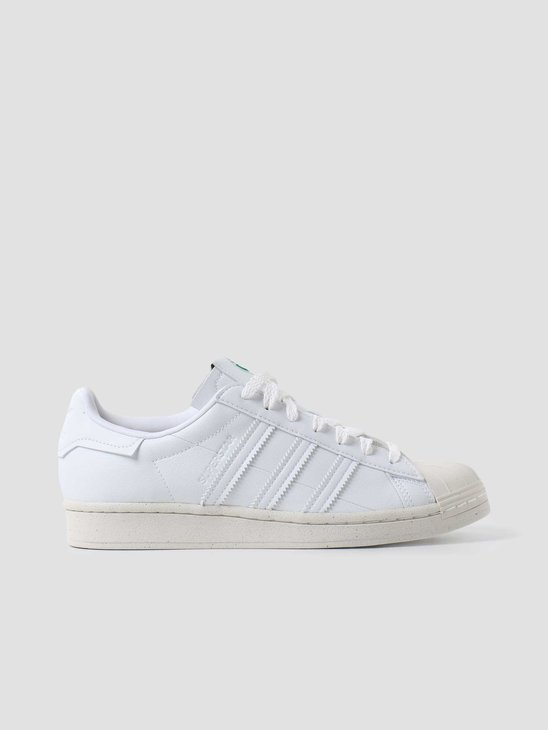 adidas U Superstar Footwear White Off-White Green FW2292