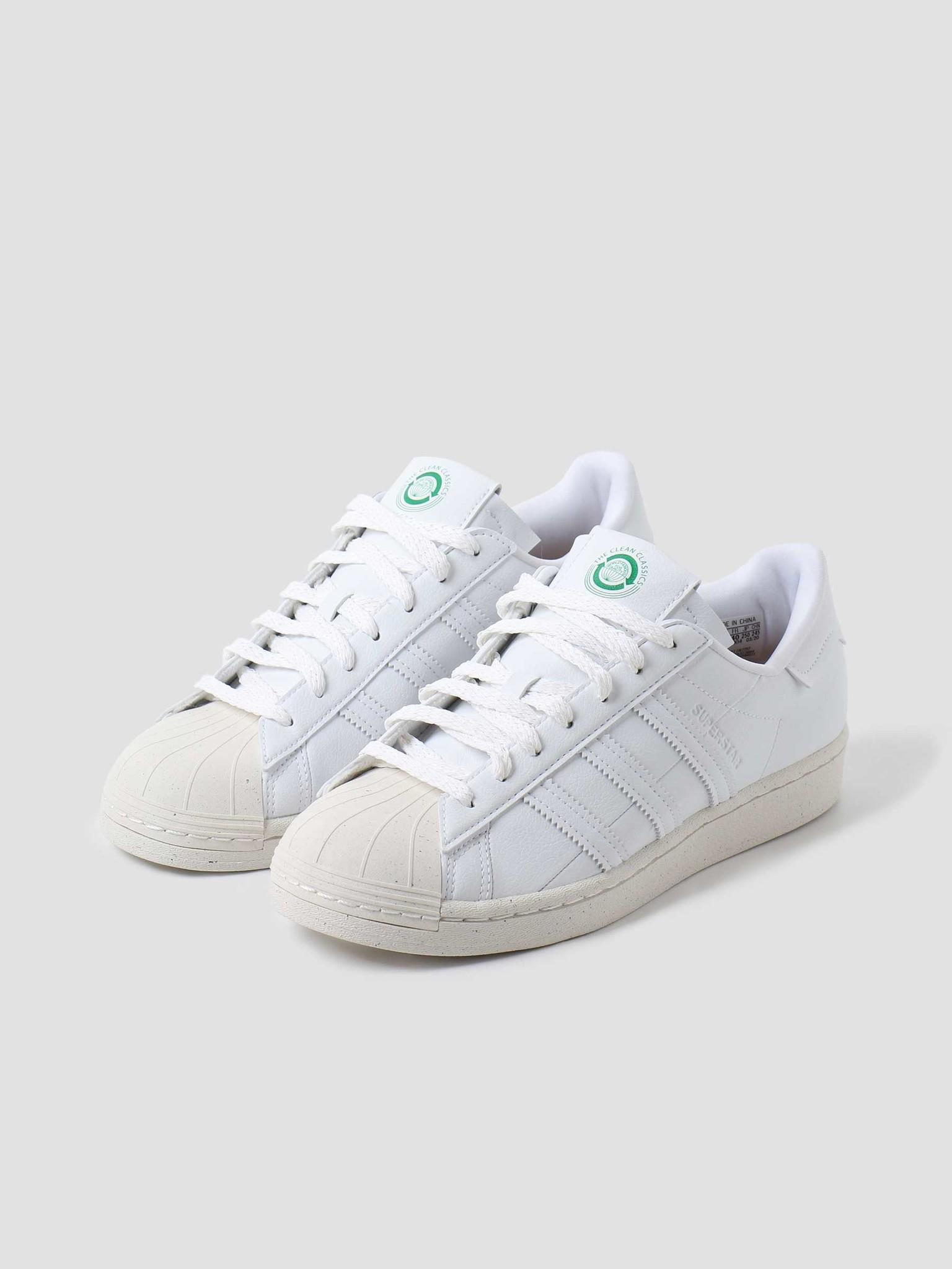 adidas adidas U Superstar Footwear White Off-White Green FW2292