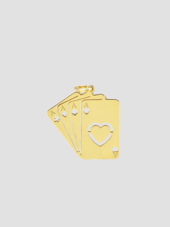 Golia Ace Pendant Gold