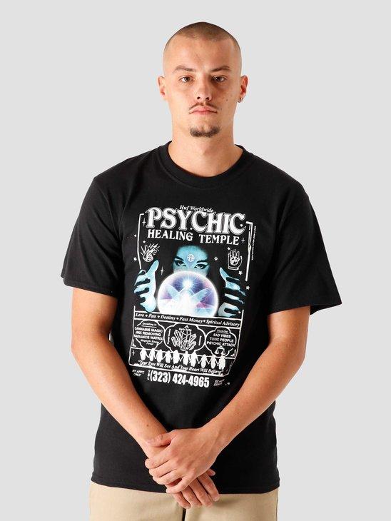 HUF Psychic Temple T-Shirt Black TS01187-BLACK