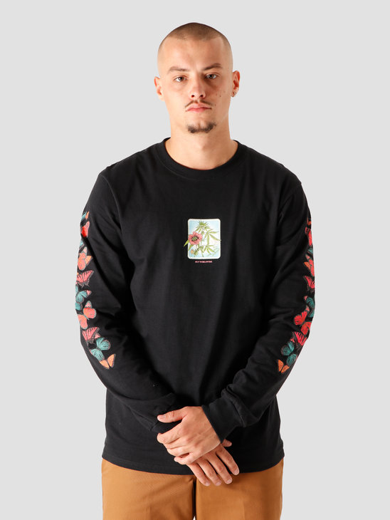 HUF Monarch Longsleeve Black TS01163-BLACK