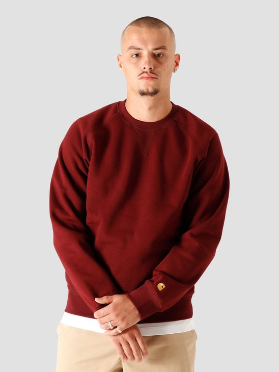Carhartt WIP Chase Sweat Bordeaux Gold I026383-JD90
