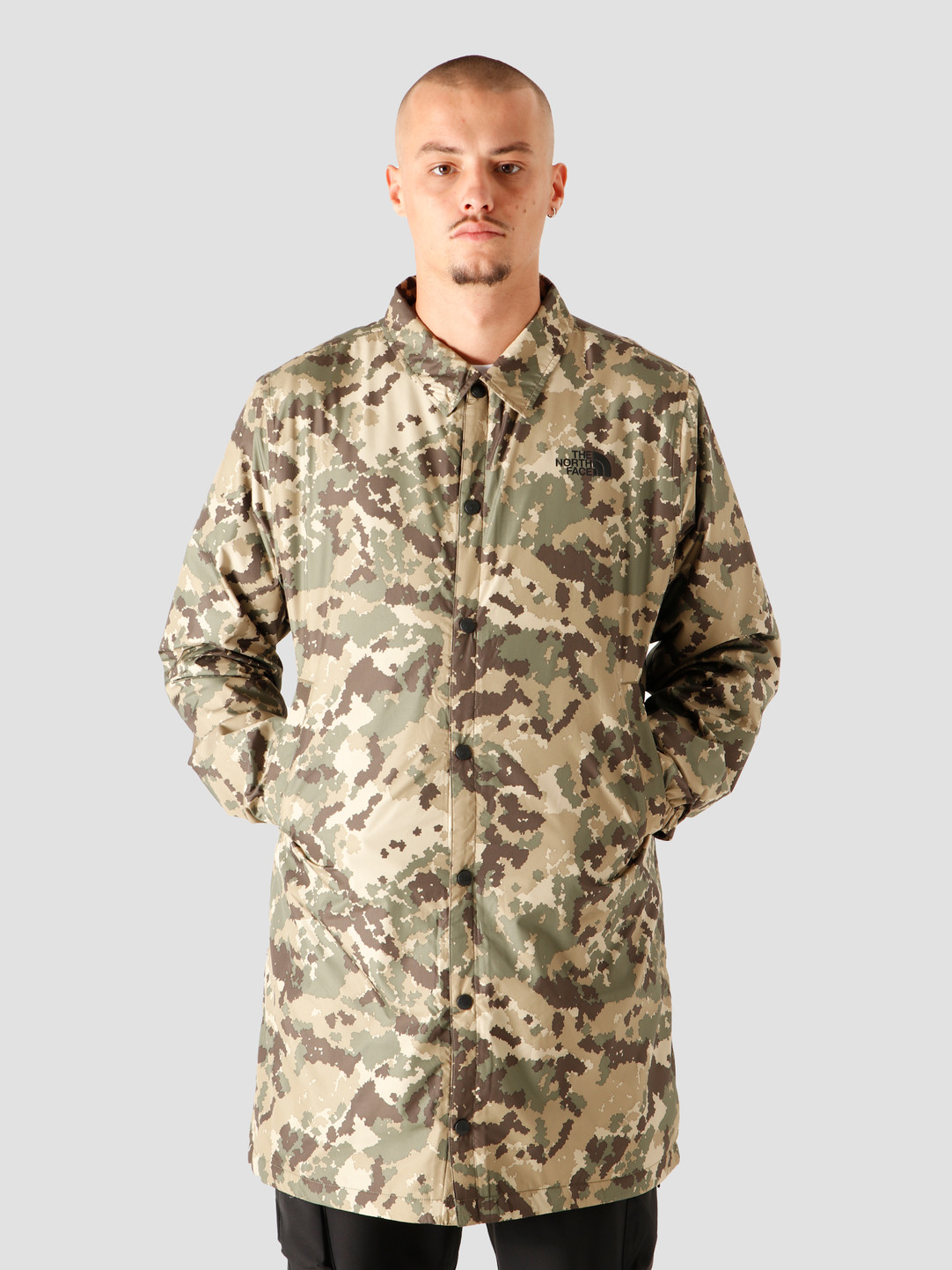 The North Face The North Face Telegraphic Coach Jacket Burnt Olive Green Digital Camo Print NF0A4SWLSX1