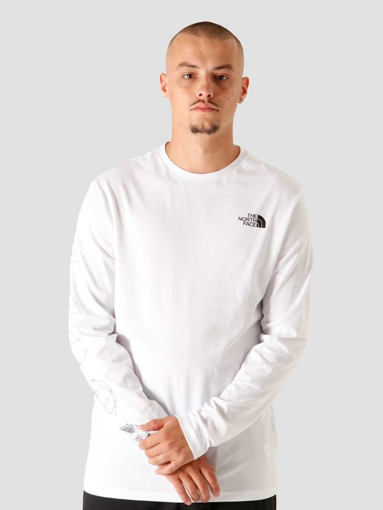 The North Face Geodome Longsleeve White NF0A4SYMFN4
