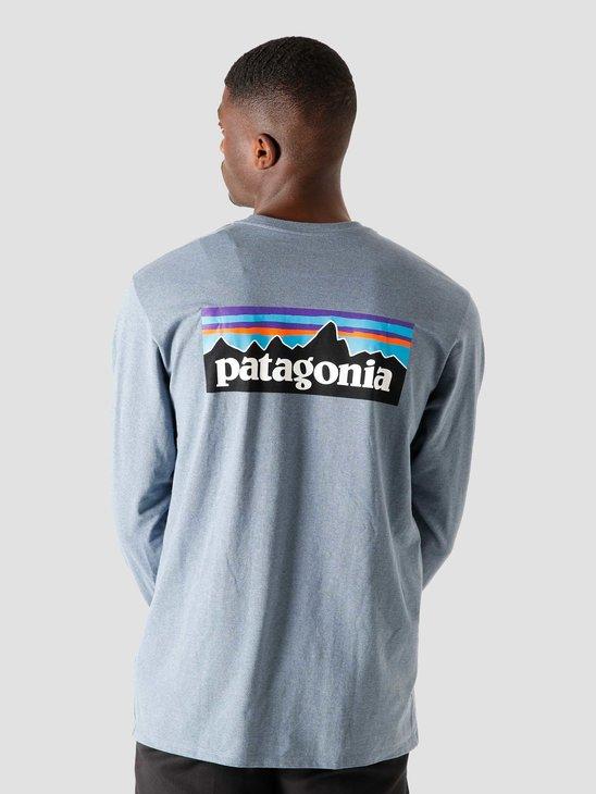 Patagonia M's Longsleeve P-6 Logo Responsibili T-Shirt Pigeon Blue 38518