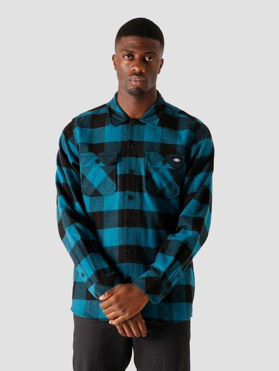 Dickies Sacramento Relaxed Longsleeve Shirt Coral Blue DK0A4X8NCBL1