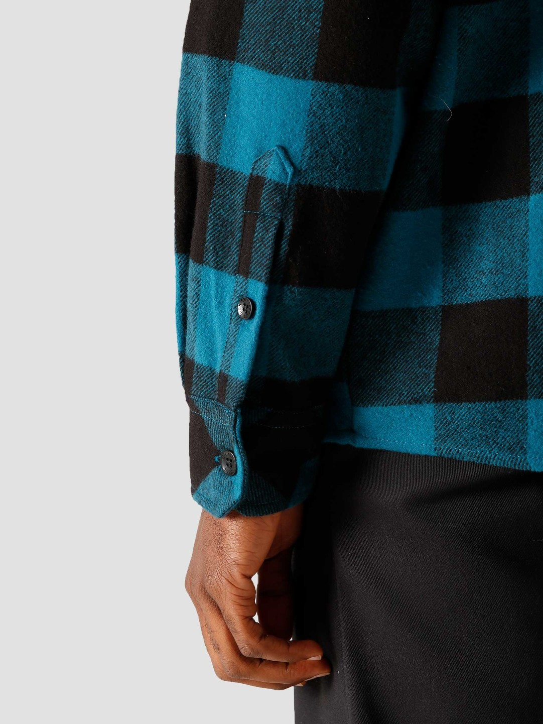 Dickies Dickies Sacramento Relaxed Longsleeve Shirt Coral Blue DK0A4X8NCBL1