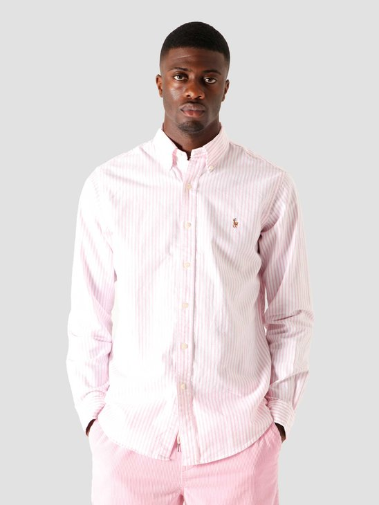 Polo Ralph Lauren Oxford Sport Shirt 2600B Rose Pink-White 710805531003