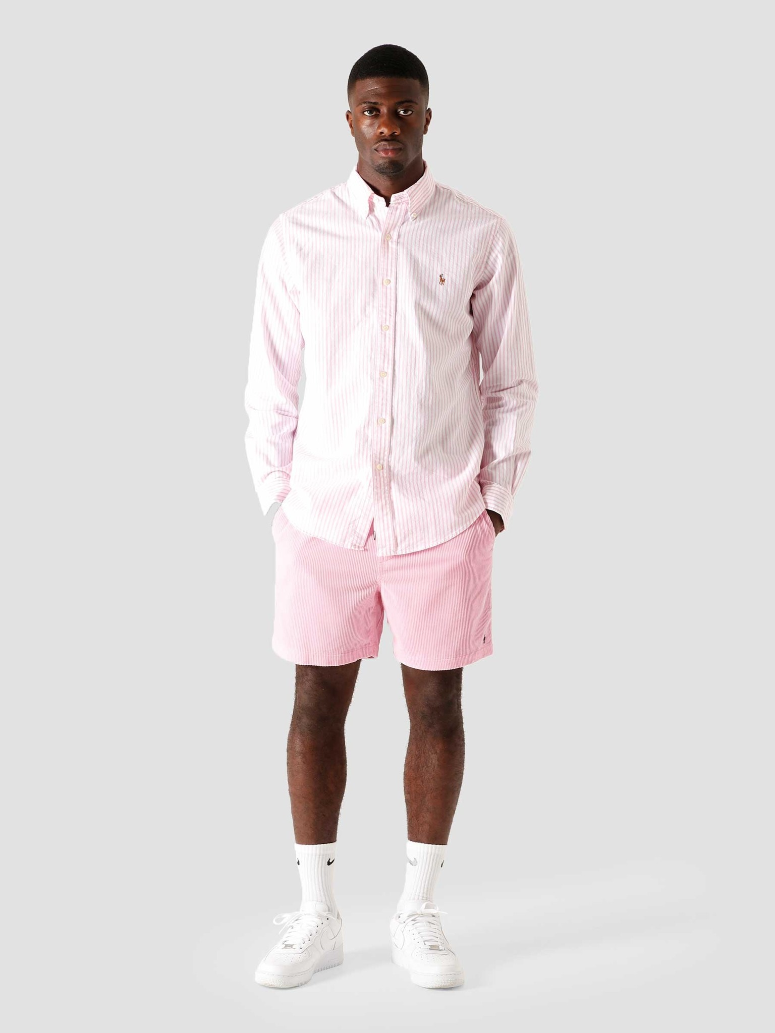 Polo Ralph Lauren Polo Ralph Lauren Oxford Sport Shirt 2600B Rose Pink-White 710805531003