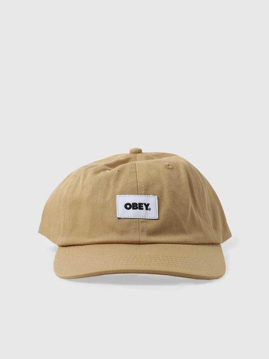 Obey Bold Label 6 Panel Strapback Almond 100580256ALM