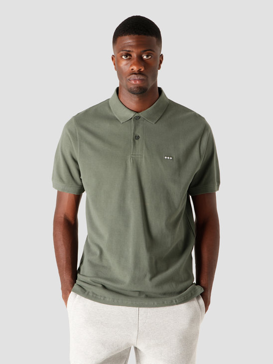 Quality Blanks QB50 Patch Logo Polo Light Olive