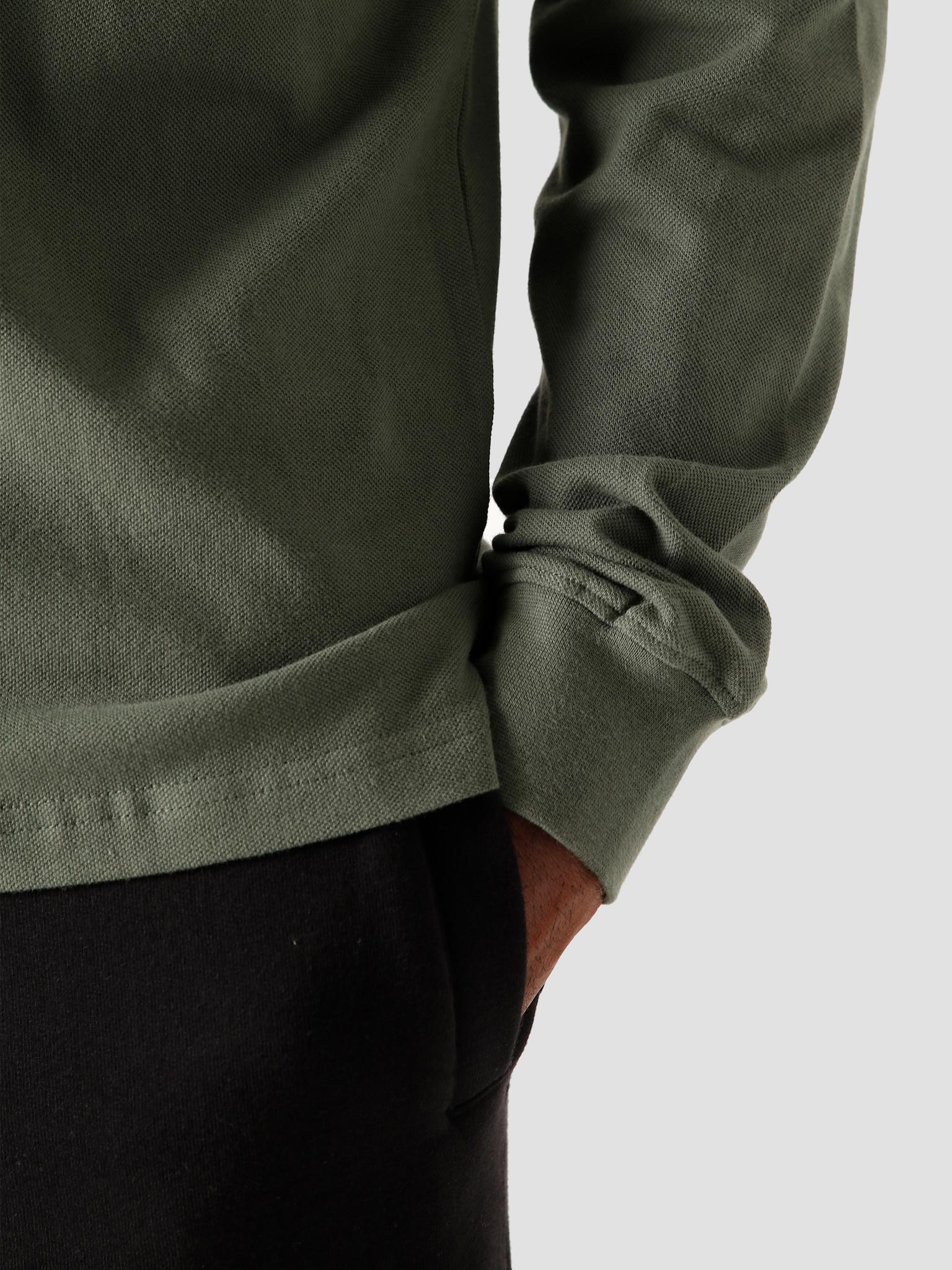 Quality Blanks Quality Blanks QB51 Patch Logo LS Polo Light Olive