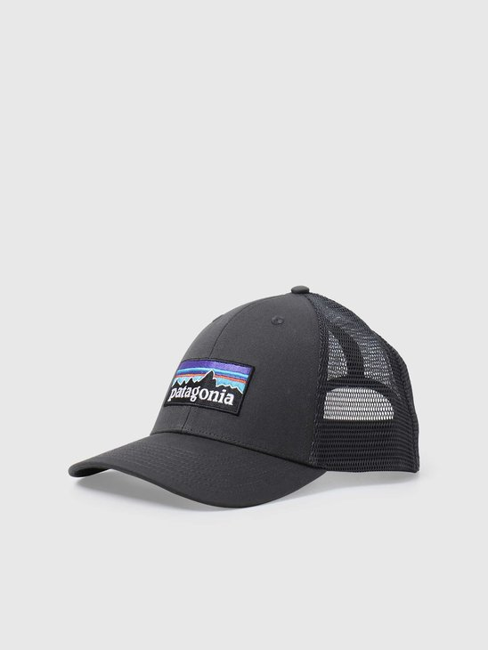 Patagonia P-6 Logo LoPro Trucker Hat Forge Grey 38283