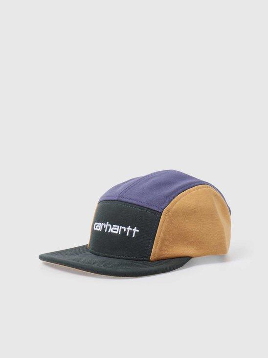 Carhartt WIP Carhartt Tricol Cap Dark Teal Cold Viola Winter Sun I028344-0F218