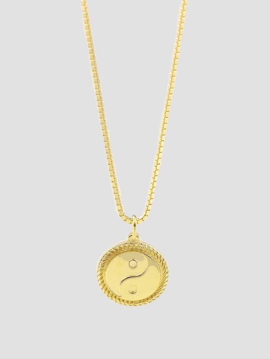 Golia Yin Yang Necklace Gold