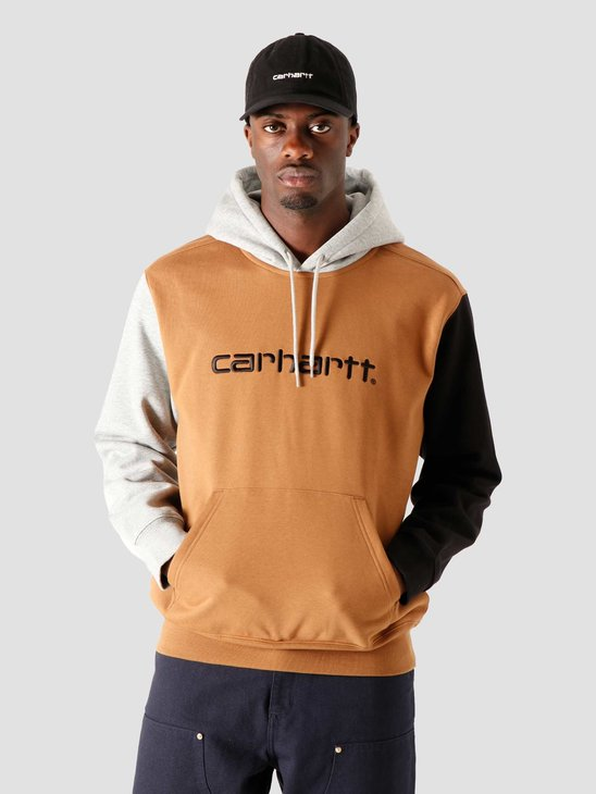 Carhartt WIP Hooded Carhartt Tricol Sweat Hamilton Brown I028353-HZ00