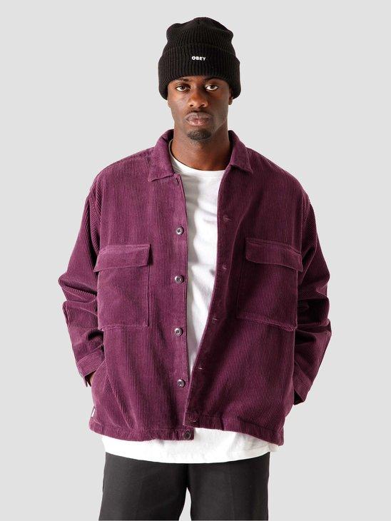 Obey Theo Shirt Jacket Blackberry Wine 121160019BLB