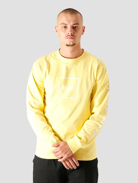 HUF Essentials Domestic Longsleeve Yellow TS00146