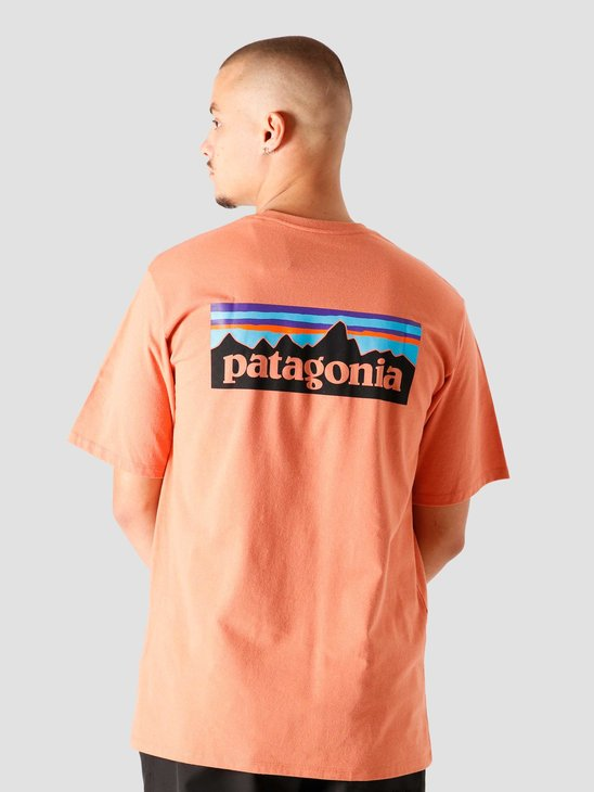 Patagonia M's P-6 Logo Pocket Responsibili T-Shirt Mellow Melon 38512