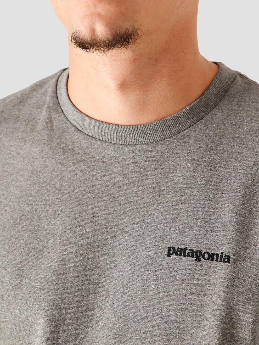Patagonia Patagonia M's P-6 Logo Responsibili T-Shirt Gravel Heather 38504