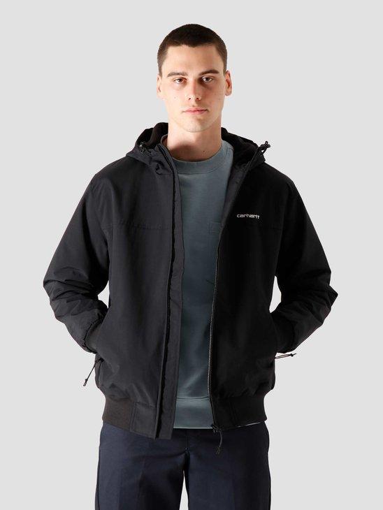 Carhartt WIP Hooded Sail Jacket Black White I028436-8900