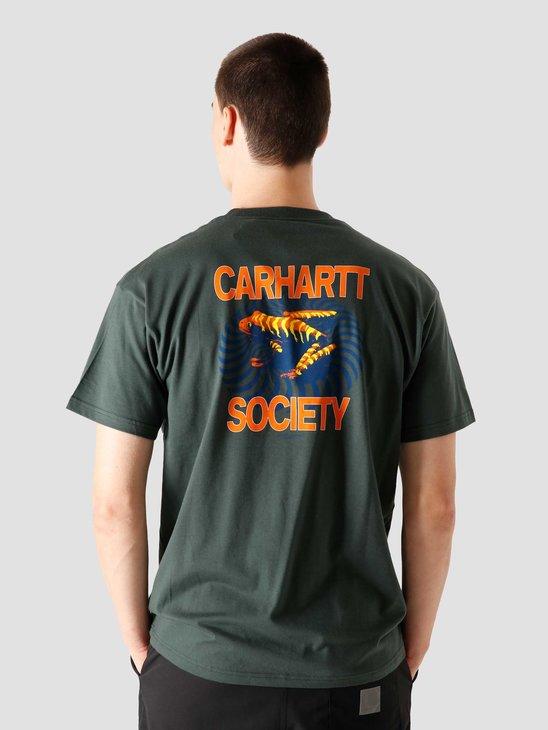 Carhartt WIP  Society T-Shirt Blue I028490 0F200
