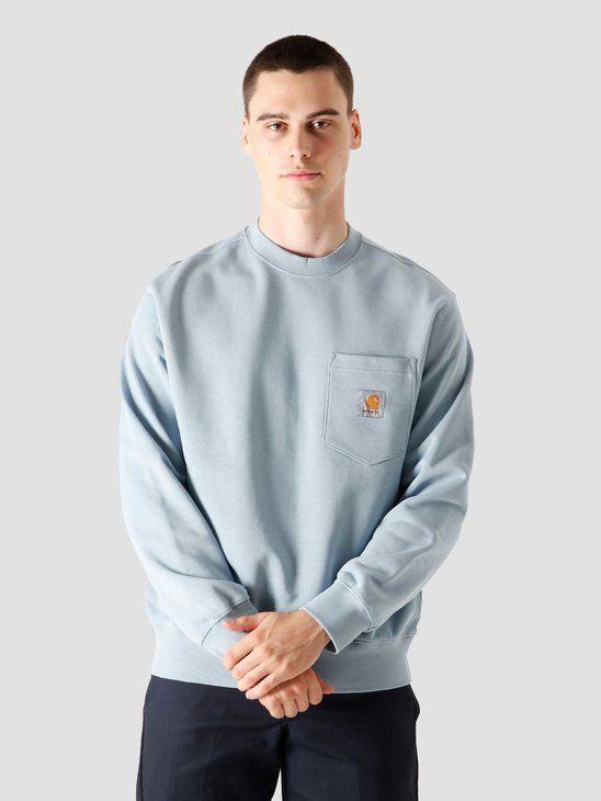 Carhartt WIP Pocket Sweat Frosted Blue I027681-0F400