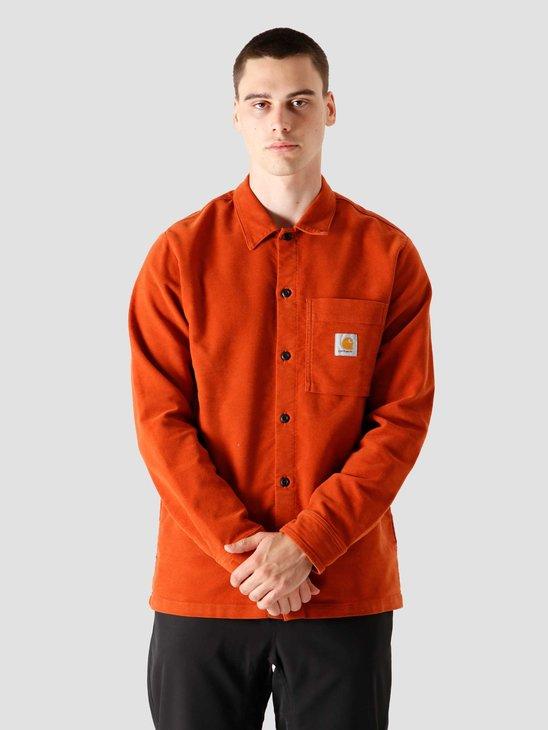 Carhartt WIP Longsleeve Holston Shirt Cinnamon I028668-0F002