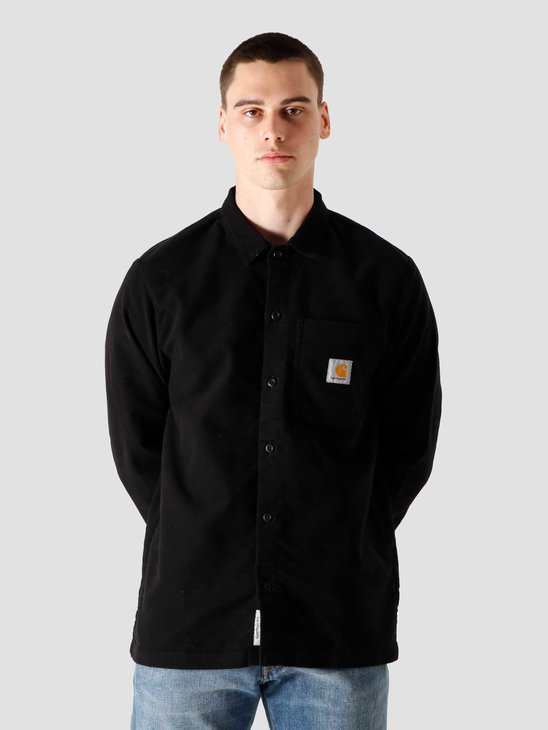Carhartt WIP Longsleeve Holston Shirt Black I028668-8902