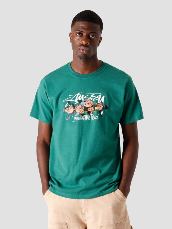 Stussy LTP Roses T-Shirt Dark Green 1904574-0450