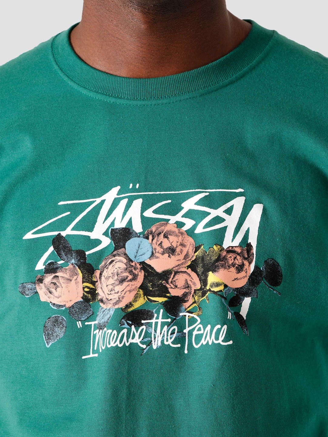 Stussy Stussy LTP Roses T-Shirt Dark Green 1904574-0450