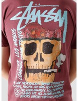 Stussy Stussy Smokin' Skull Pig. Dyed T-Shirt Wine 1904593-0606