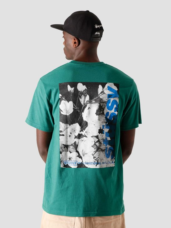 Stussy Windflower T-Shirt Dark Green 1904589-0450