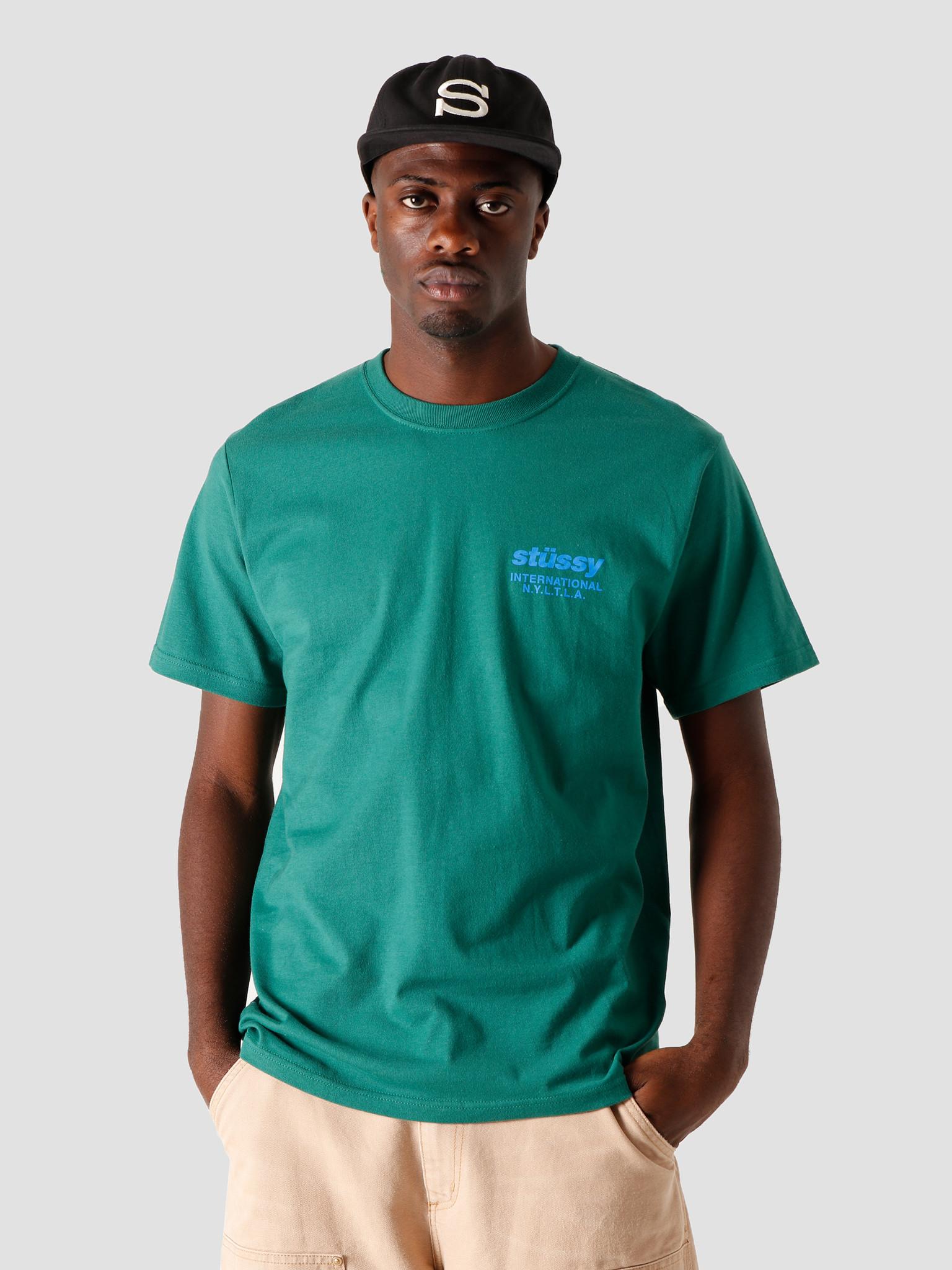 Stussy Stussy Windflower T-Shirt Dark Green 1904589-0450