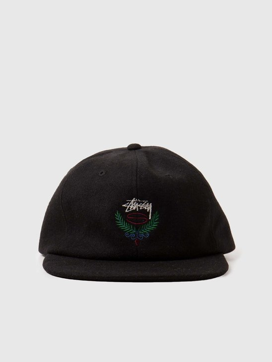 Stussy Big Herringbone Strapback Cap Black 131963-0001
