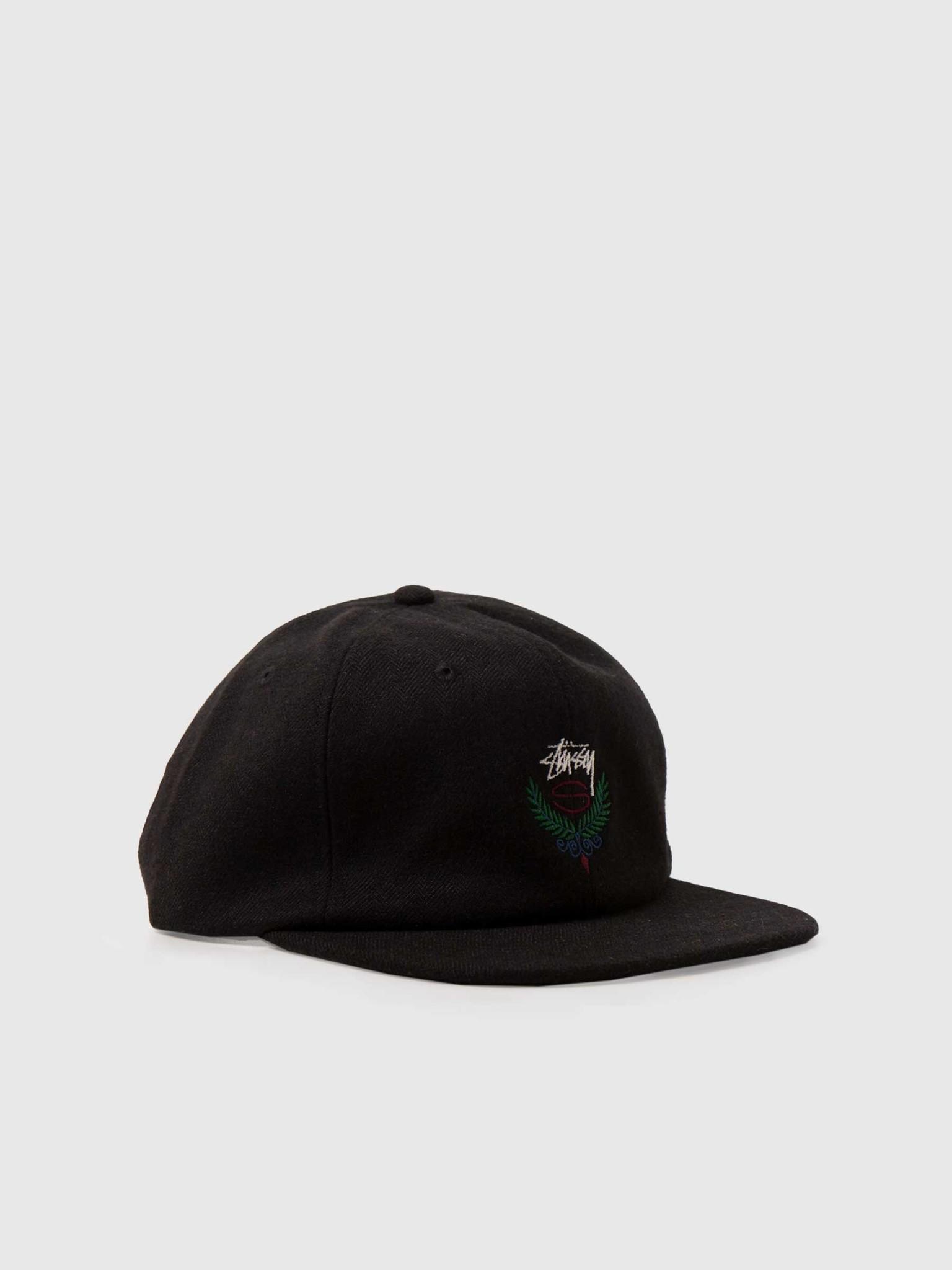 Stussy Stussy Big Herringbone Strapback Cap Black 131963-0001