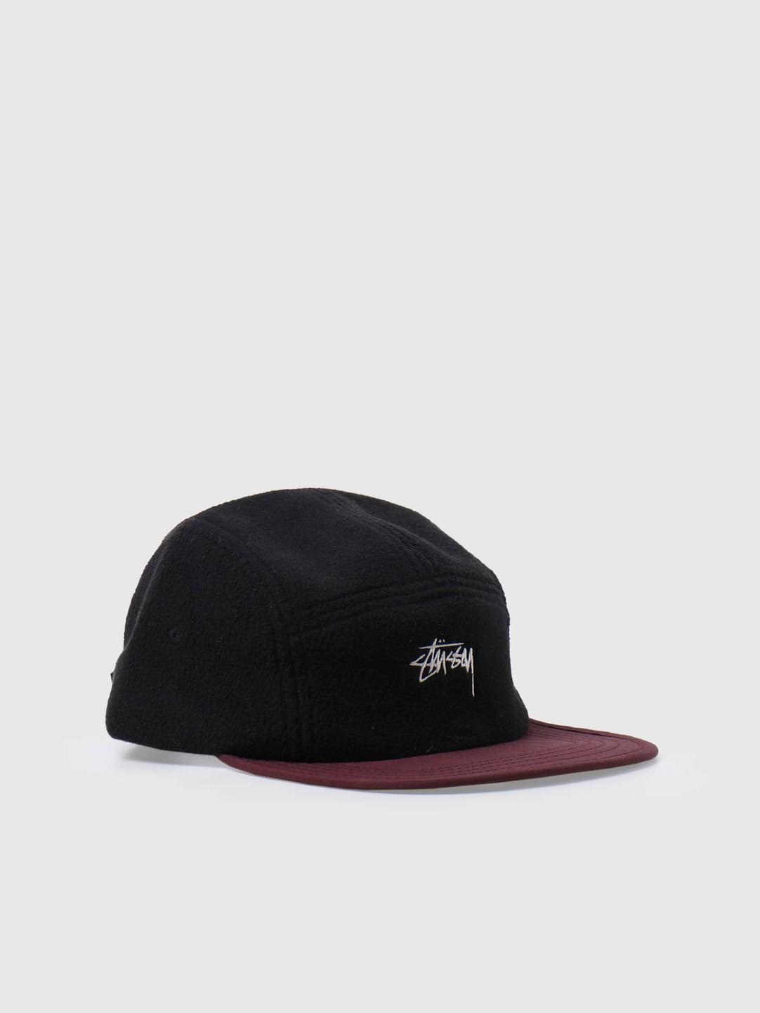 Stussy Stussy Fleece Nylon Mix Camp Cap Black 132997-0001