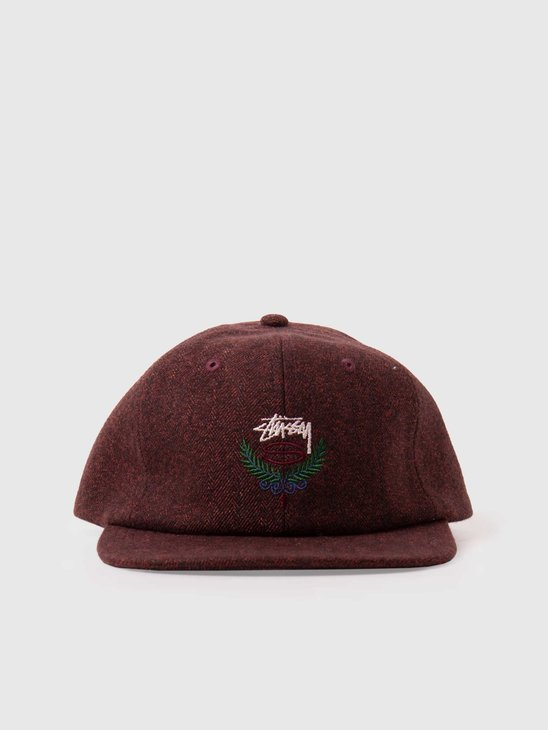 Stussy Big Herringbone Strapback Cap Burnt Orange 131963-18892