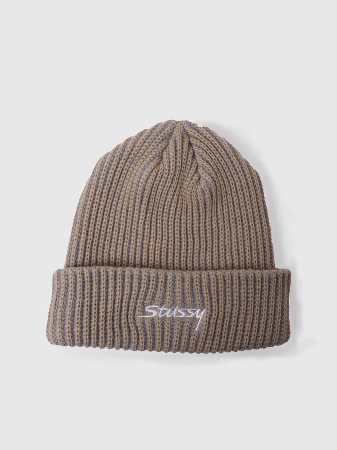 Stussy Stussy 2 Tone Knit Short Beanie Tan 132987-1005