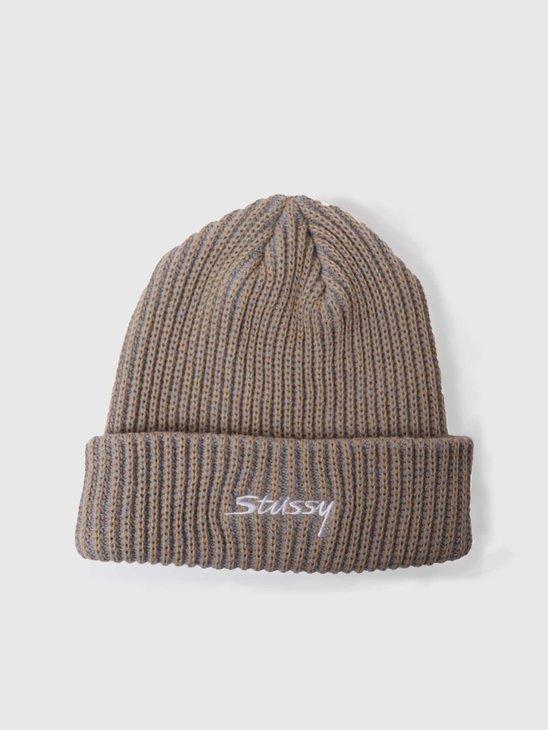 Stussy 2 Tone Knit Short Beanie Tan 132987-1005