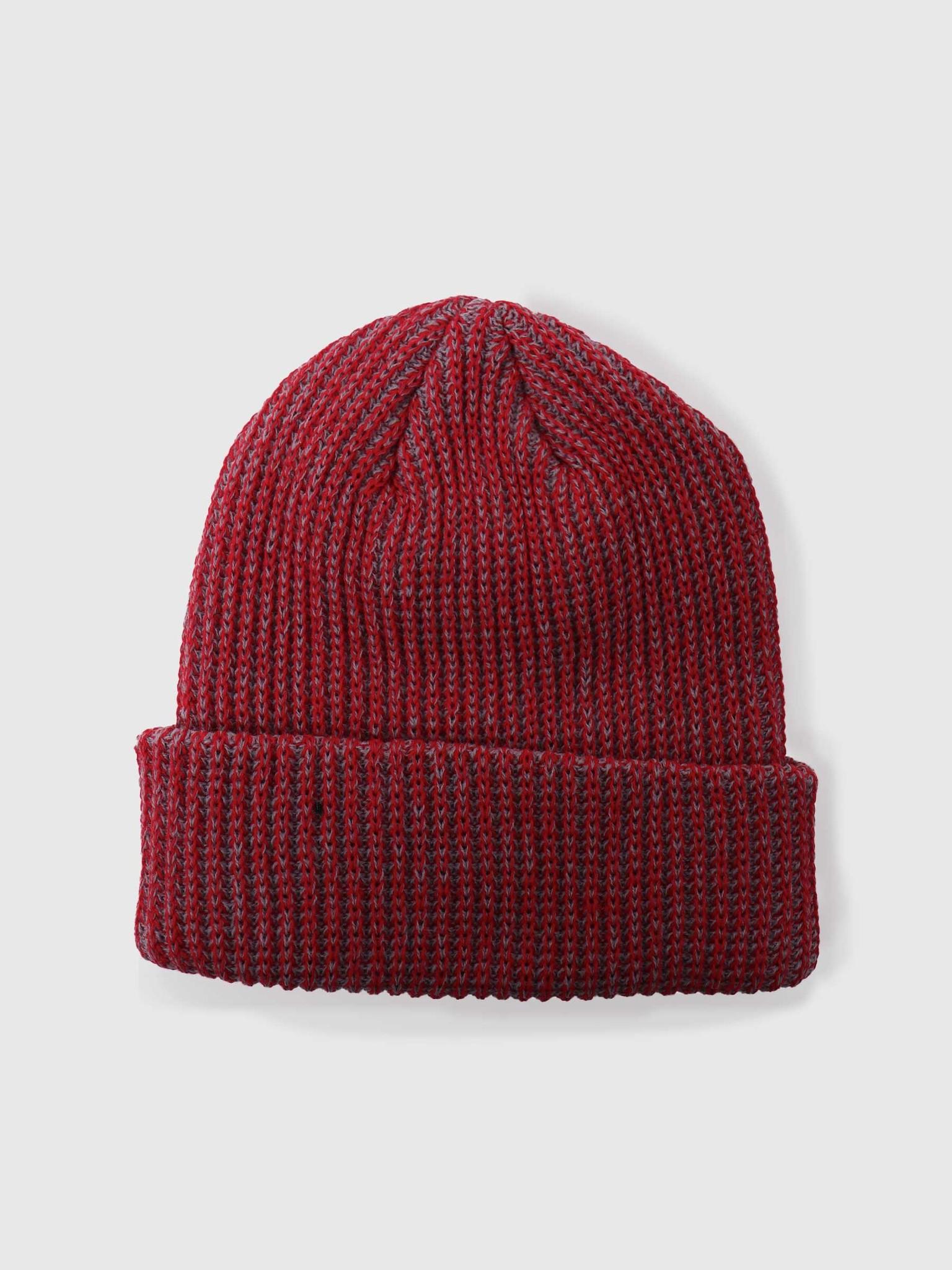 Stussy Stussy 2 Tone Knit Short Beanie Red 132987-0601