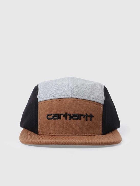 Carhartt WIP Carhartt Tricol Cap Hamilton Brown Grey Heather Black I028344-HZ18
