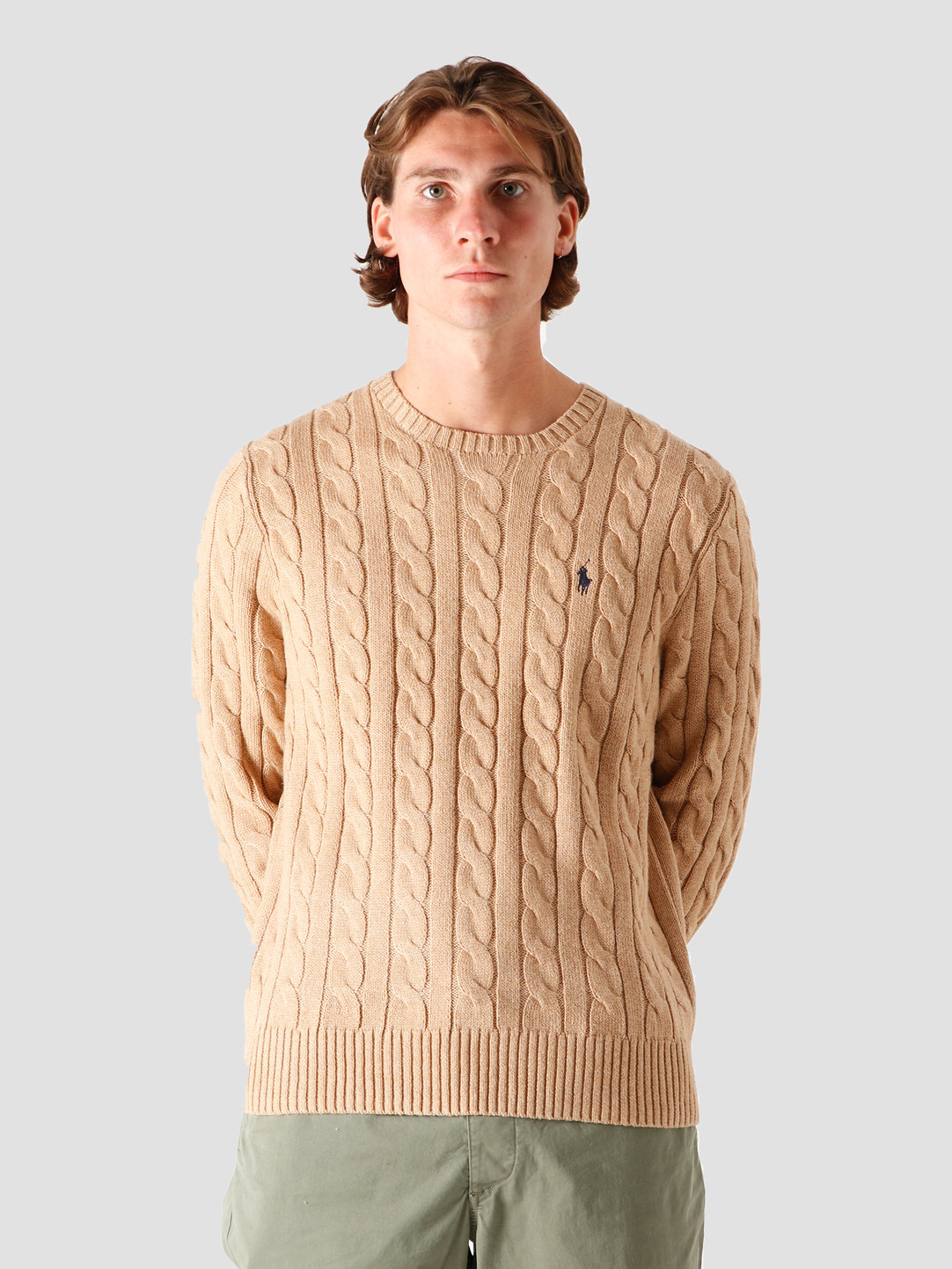 Polo Ralph Lauren Polo Ralph Lauren Driver CN Knitted Sweater Camel Melange 710775885014