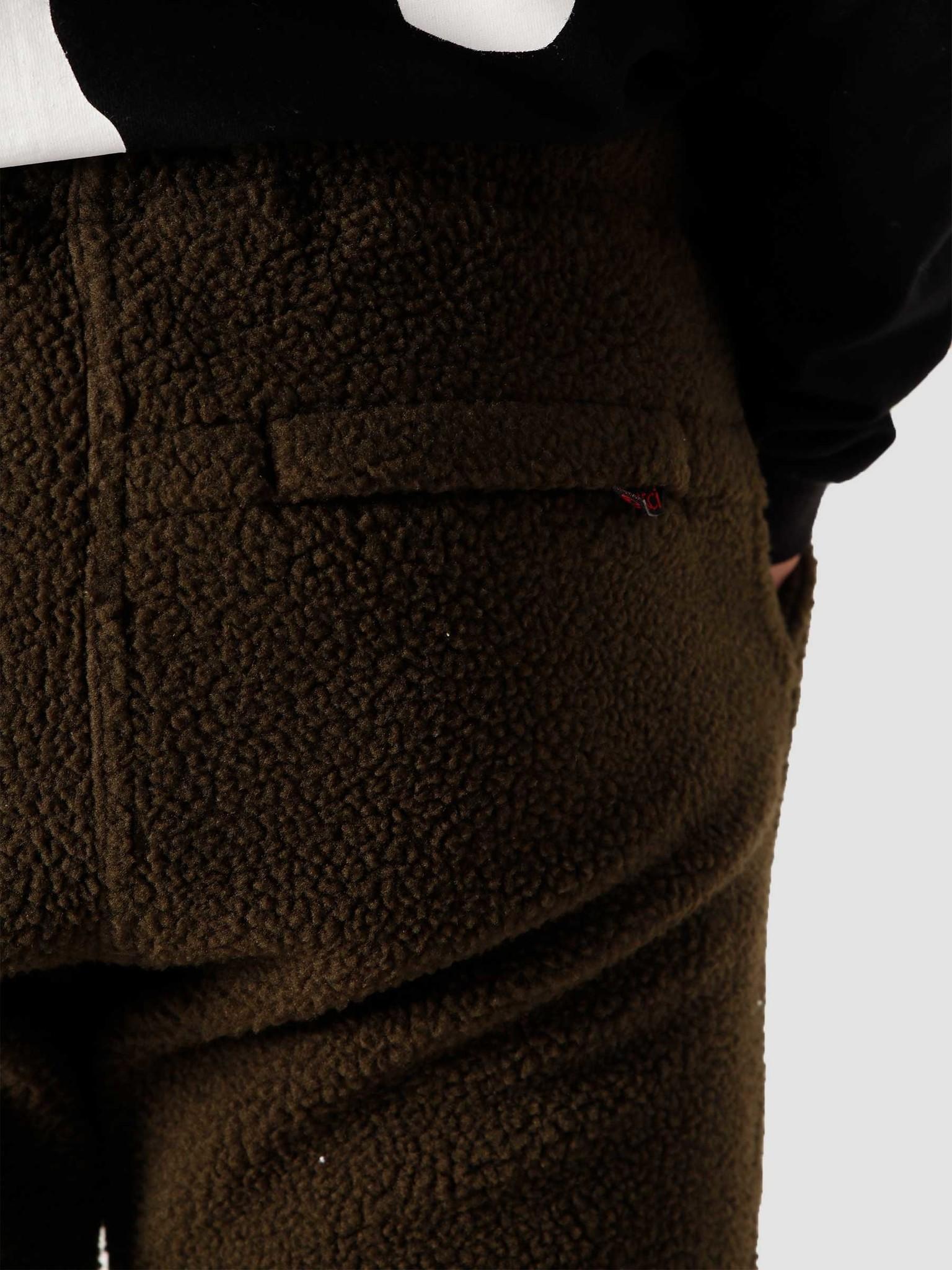 Gramicci Gramicci Boa Fleece Truck Pants Olive GUP-20F041