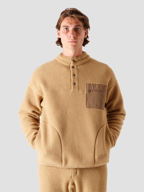 Gramicci Boa Fleece Pullover Shirt Beige GUJK-20F042