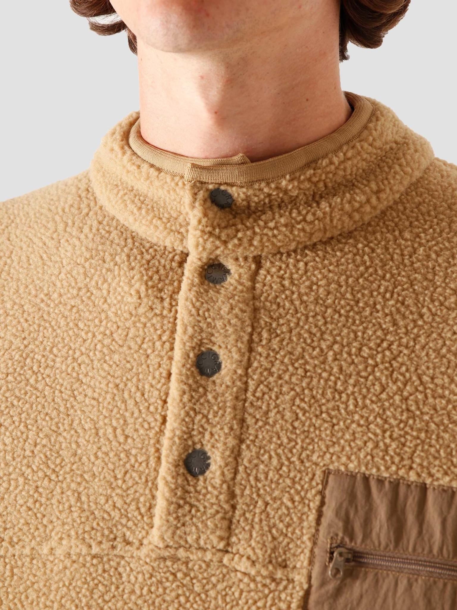 Gramicci Gramicci Boa Fleece Pullover Shirt Beige GUJK-20F042